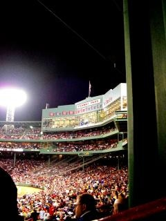 Jogo de beisebol fenway, arena, famosos