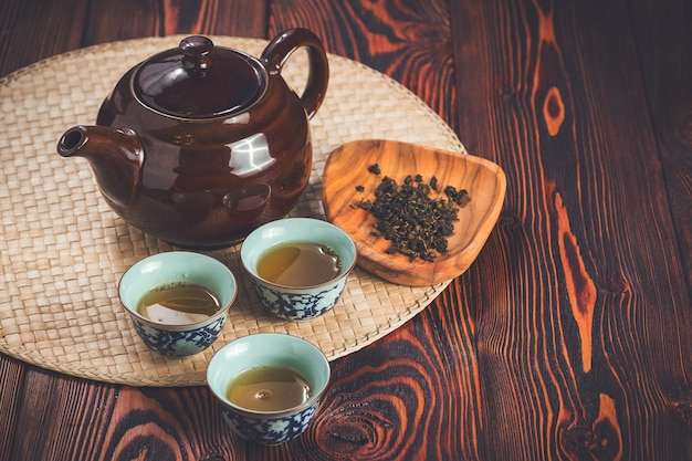 Jogo de chá asiático