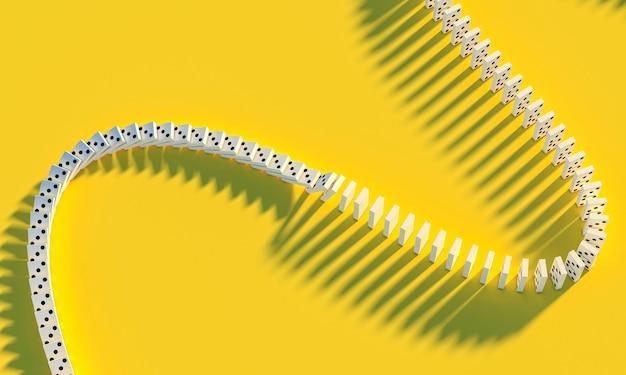 Jogo de dominó em fundo amarelo.