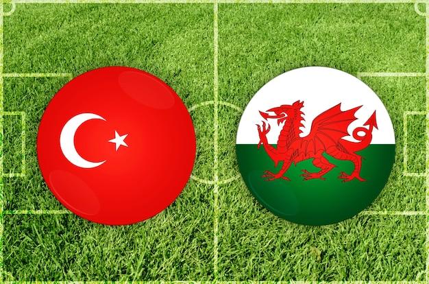 Jogo de futebol turquia vs gales