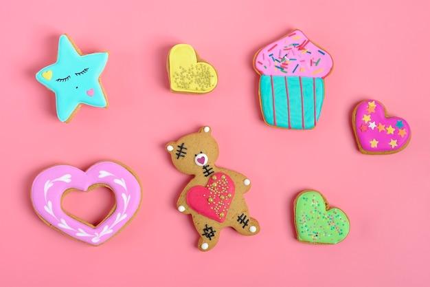 Jogo, de, gingerbread, biscoitos
