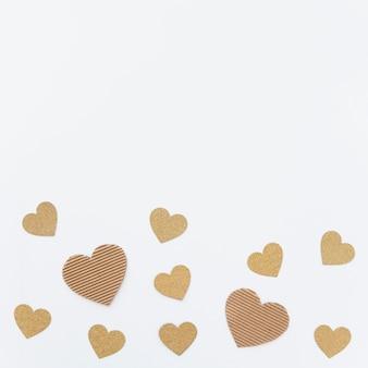 Jogo, de, ornamento, corações