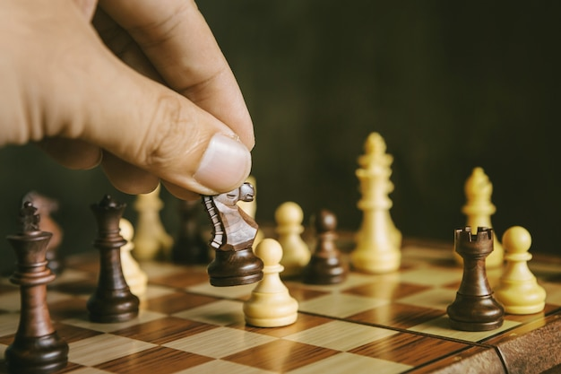 Jogo de peão de xadrez de xadrez de cavaleiro