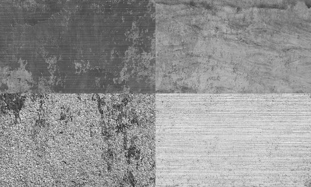 Jogo de quatro texturas de concreto