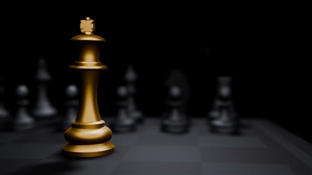 Jogo de tabuleiro de xadrez dourado bispo e, estratégia idéias conceito fundo de negócios