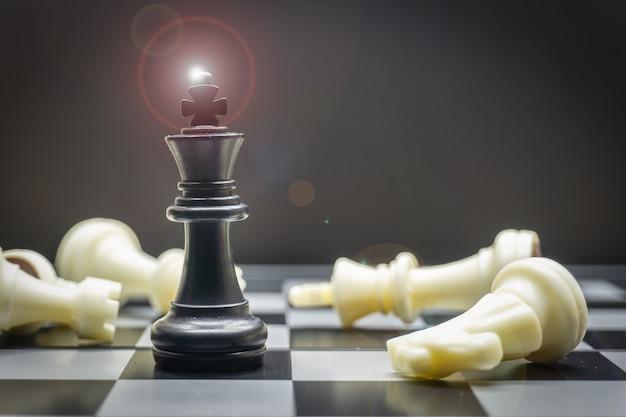Jogo de tabuleiro de xadrez para conceitos de liderança