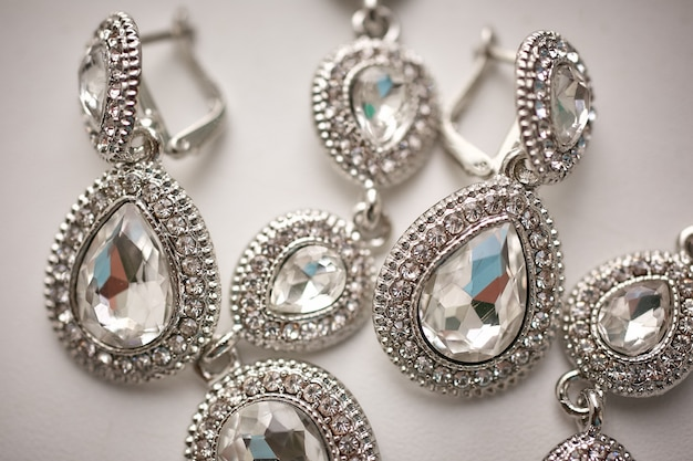 Jóias de joias femininas, close-upy, close-up