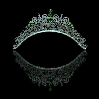 Jóias de luxo - diadema de casamento.
