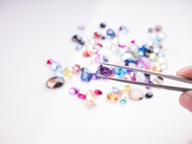 Jóias ou gemas coleção pedras preciosas naturais