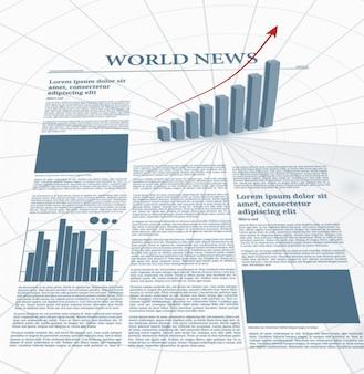 Jornal de negócios com gráficos