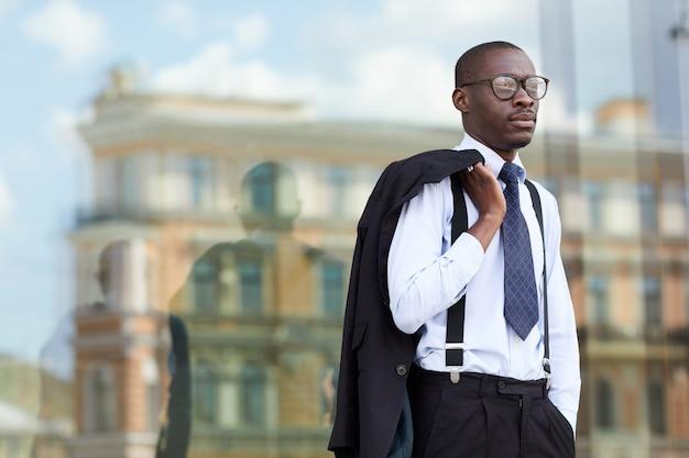 Jovem empresário afro-americano
