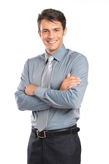 Jovem empresário confiante