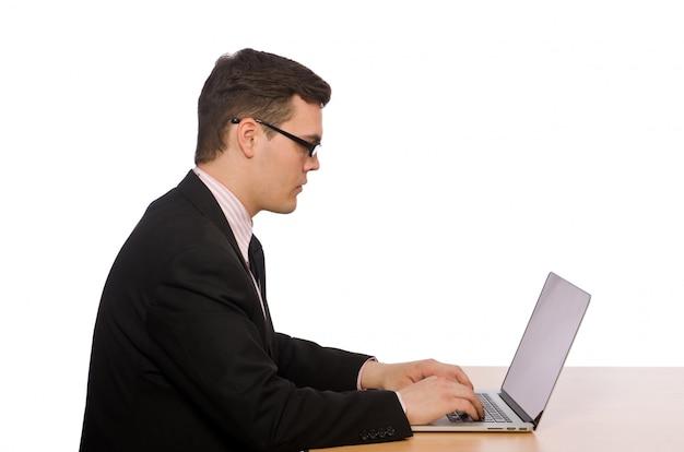 Jovem empresário isolado