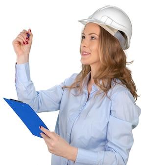 Jovem especialista em construção feminina