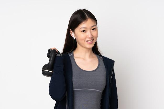 Jovem esportista asiática