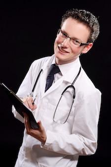 Jovem estudante de medicina