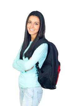 Jovem estudante universitário com uma mochila