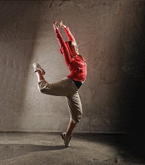 Jovem, femininas, dançar, modernbreak, dança