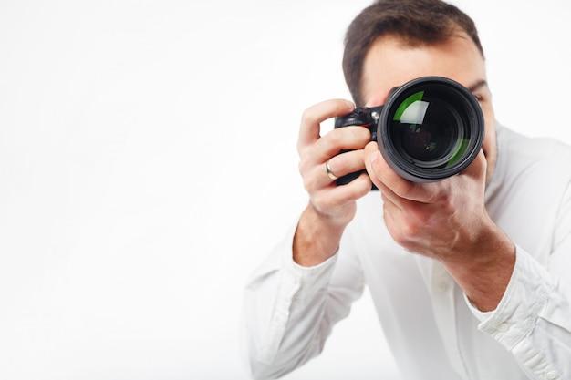 Jovem fotógrafo
