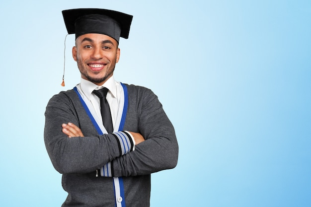 Jovem, graduação, homem