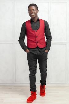 Jovem, macho, americano africano, modelo