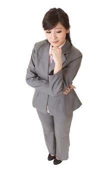 Jovem mulher de negócios atraente