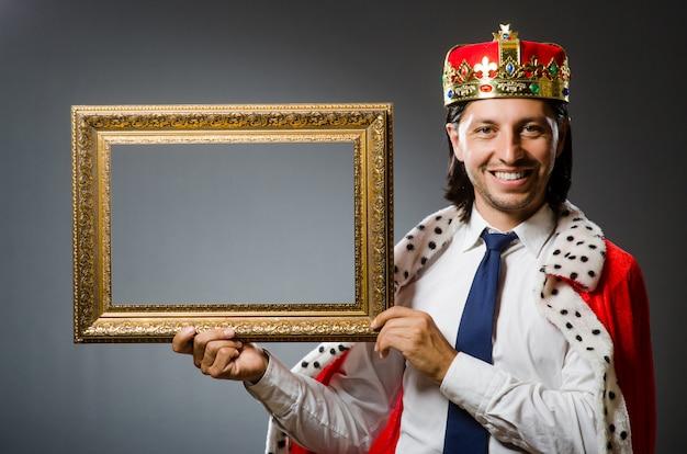 Jovem, rei, homem negócios