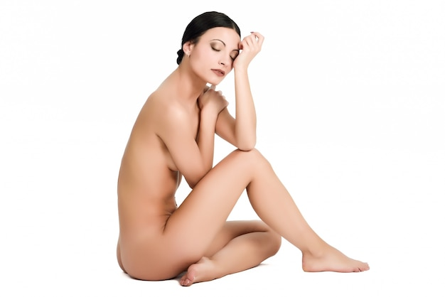 Jovem retrato do corpo nu sensualidade