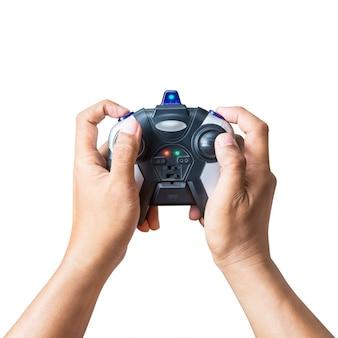 Joystick na mão