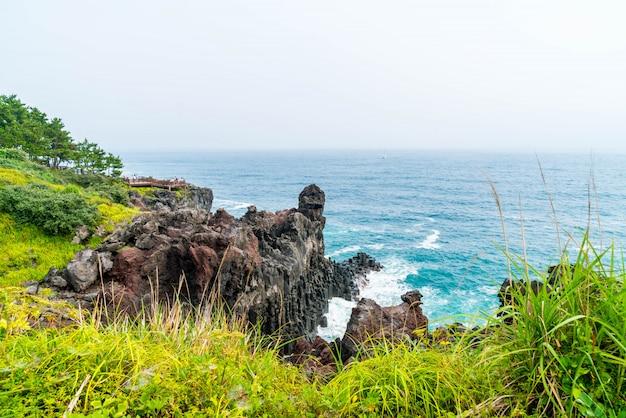 Jungmun daepo coast jusangjeolli cliff, ilha de jeju