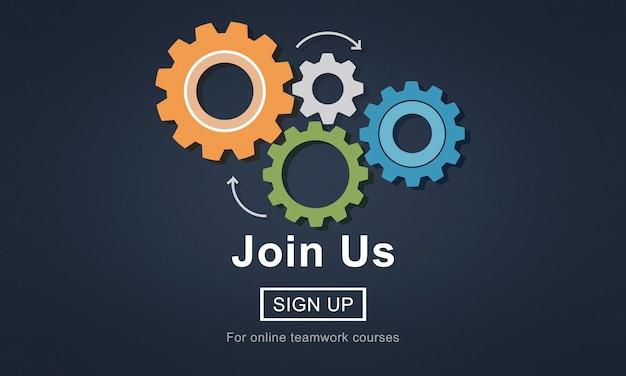 Junte-se a nós recrutamento conceito de contratação de emprego Foto gratuita