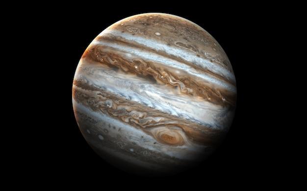 Júpiter no espaço, ilustração 3d. .