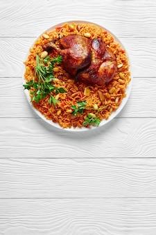 Kabsa de frango - arroz árabe caseiro