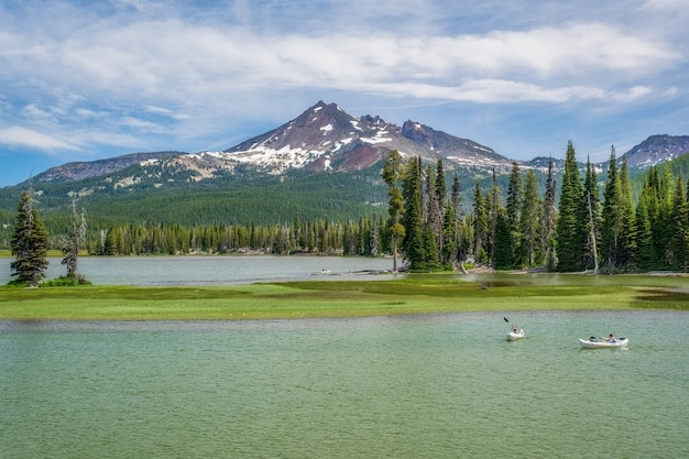 Kayakers em sparks lake