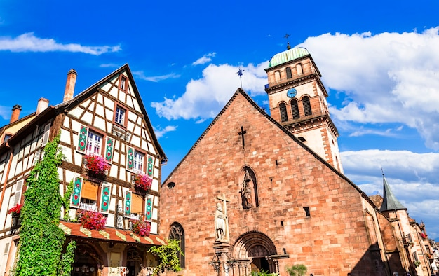 Kaysersberg uma das mais belas aldeias da frança, alsácia