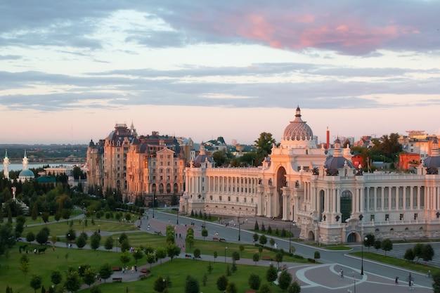 Kazan, rússia - 25 de julho de 2020: palácio dos fazendeiros - ministério do meio ambiente e agricultura do tartaristão