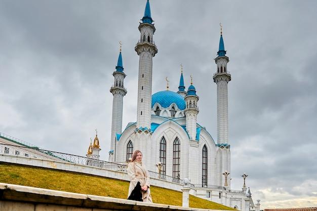 Kazan, rússia - 26 de outubro de 2020, mesquita kul sharif no território do kremlin de kazan. muçulmanos