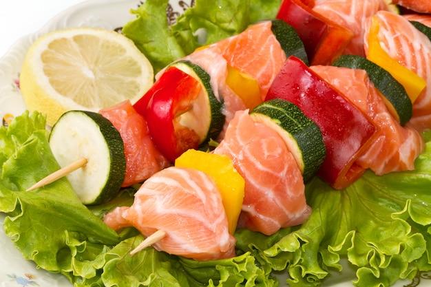 Kebab de salmão