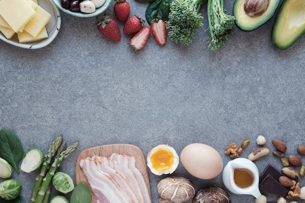 Keto, dieta cetogênica, baixo carboidrato, comida saudável