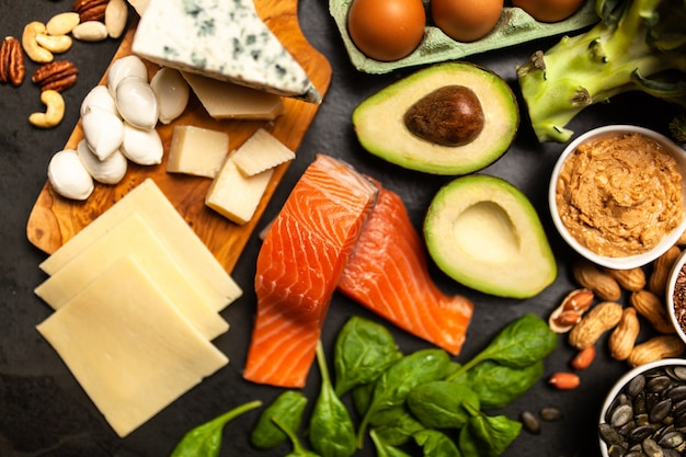 Keto dieta ingredientes alimentares