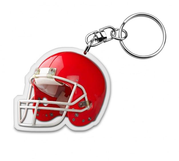 Keyholder presente com símbolo de capacete de futebol americano