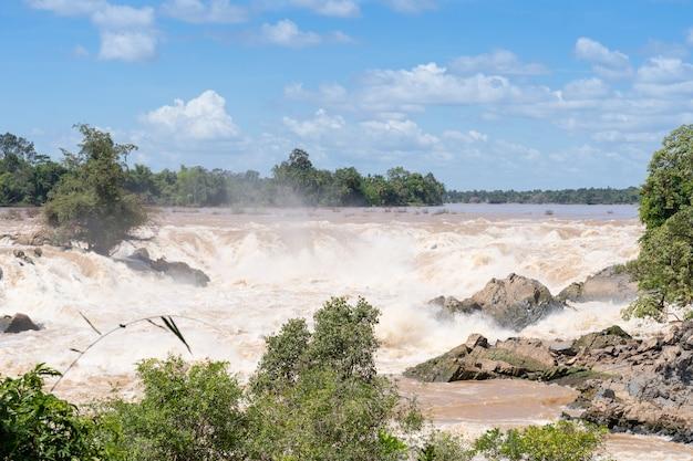 Khone phapheng queda de água no sul do laos