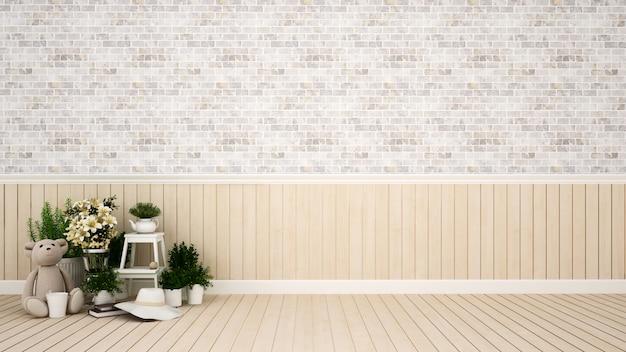 Kid room ou área de estar em apartamento ou casa - renderização 3d