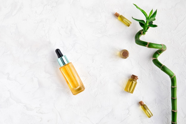 Kit cosmético com óleo