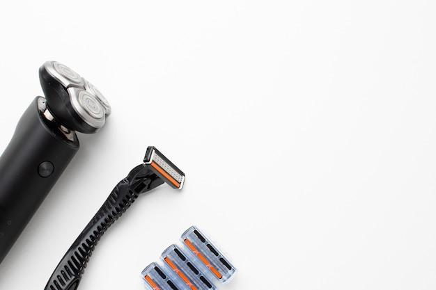 Kit de barbear com espaço para texto