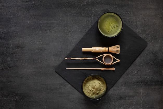 Kit de cerimônia de chá verde matcha