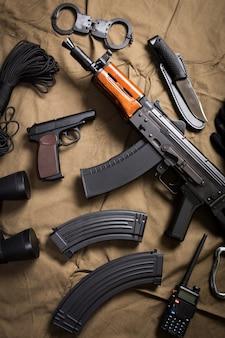 Kit de equipamento militar moder rússia