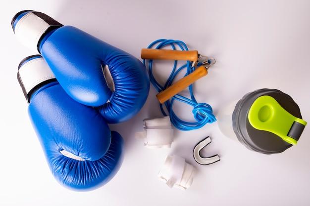 Kit de fitness ativo para boxe, luvas de boxe, galope, bandagens para as mãos