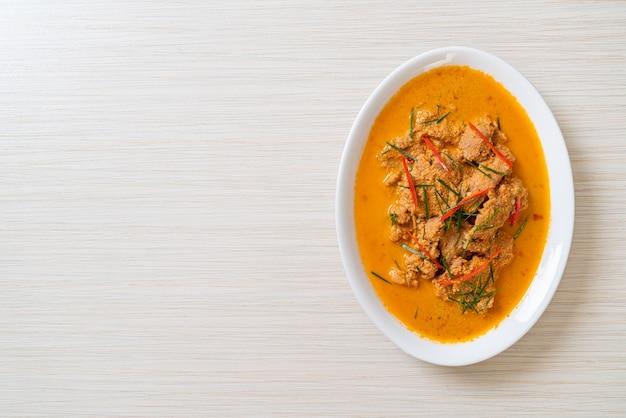 Kit refeição tailandesa panang curry com carne de porco