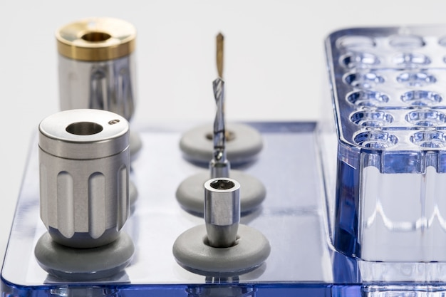 Kits cirúrgicos para implantes de closeup / mini parafusos / chaves de fenda / para brocas